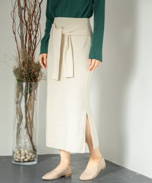 ウエストマークニットナロースカート