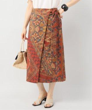 Persian carpet print ラップスカート