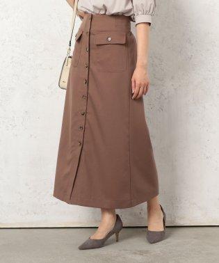 ボタンIラインスカート(起毛TR)