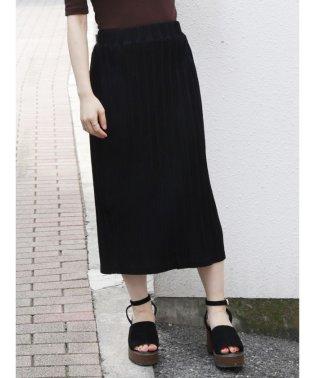 カットプリーツミドルタイトスカート