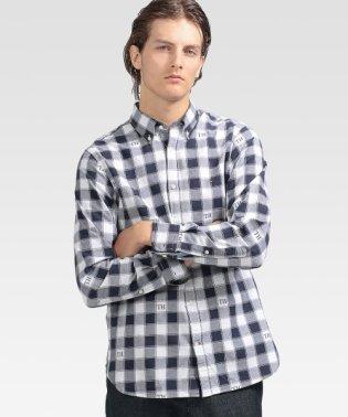 モノグラムチェックシャツ