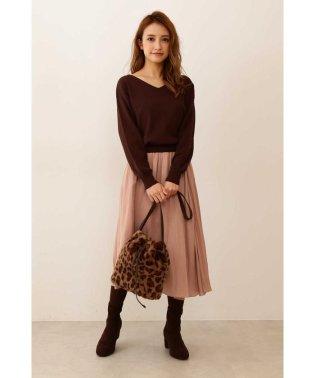 ◆ドルマンニットサテンスカートセットアップワンピース