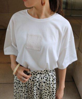 スクエアロゴ刺繍オーバーサイズ半袖Tシャツ