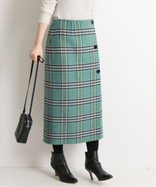 Wフェイスリバーシブルミッドカーフスカート◆