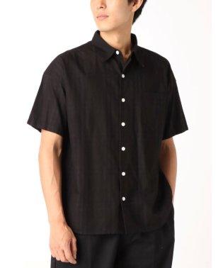 オーバーダイ半袖チェックシャツ