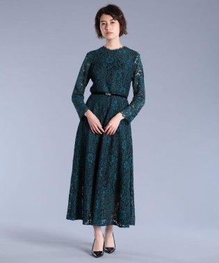 《Maglie White》コードレースロングドレス
