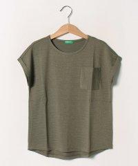 ラメボーダーポケット半袖Tシャツ・カットソー