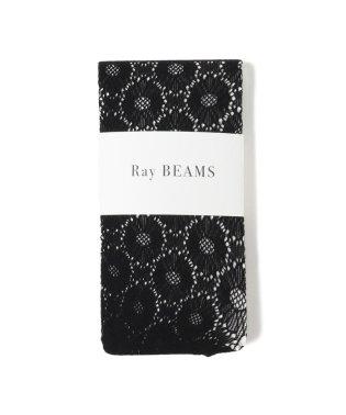 Ray BEAMS / フラワー ジャガード タイツ