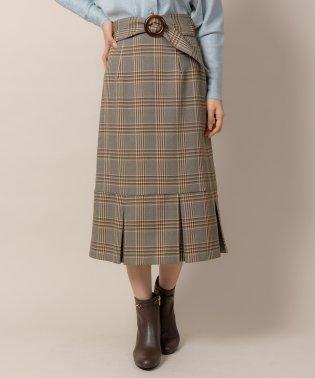 チェックタックヘムタイトスカート