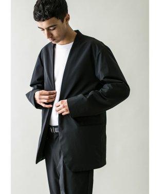 <monkey time> PE 2W CLOTH LAPEL LESS JACKET/ジャケット