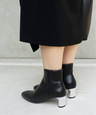 【絵美里×Le Talonコラボ】5cmスクエアメタルヒールショートブーツ◆