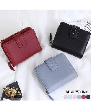 二つ折り財布 レディース財布 ミニウォレット 小銭入れ カード入れ コンパクト シンプル ベーシック