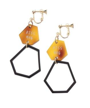 変形六角形イヤリング