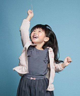 【80-130cm】肩フリル コットン カットソー