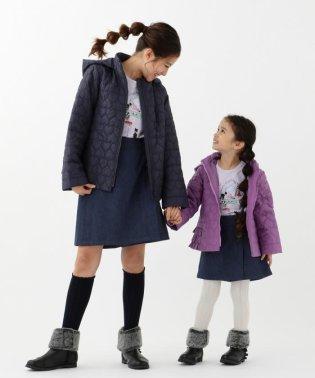 【110~140cm】ハートキルト中綿コート