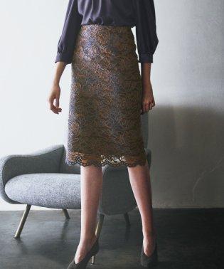 【美人百花 11月号掲載】DVブラッシュレース スカート