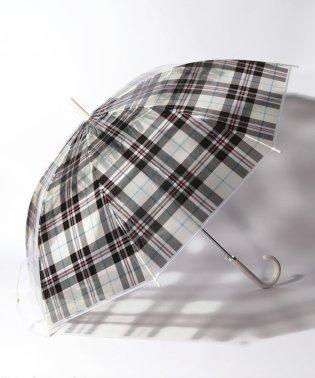 タータンチェック柄ジャンプビニル傘