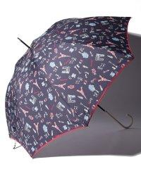 パリ柄晴雨兼用長傘 雨傘