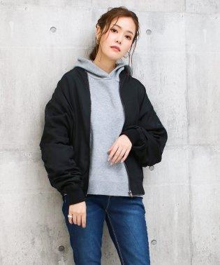 袖シャーリングミリタリーMA-1