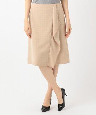 【洗える】SATIN JACQURAD スカート