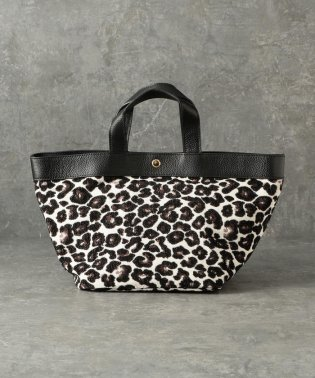 【CACHELLIE】COW LEATHER×LEOPARD TOTE