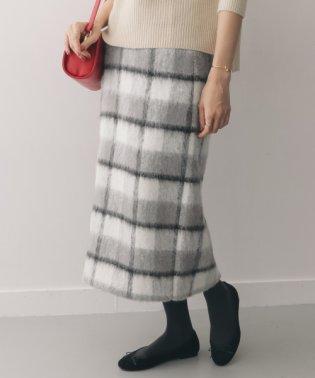 【DOORS】シャギーチェックタイトスカート