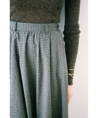 CHECK FLAIR MAXI SKIRT
