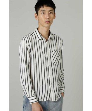 BLUE TORNADO∴マルチシャドーストライプ長袖シャツ