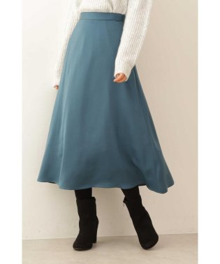 カラーサテンフレアースカート