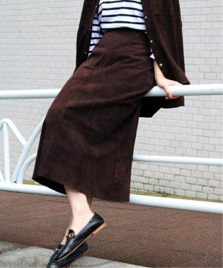 レザートラペーズスカート◆
