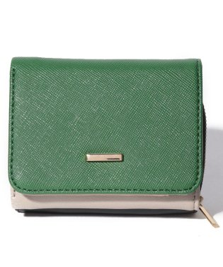 PASSE-DIX/パスディス コンビカラー三つ折れ財布