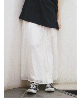 パッチワークレースマキシスカート