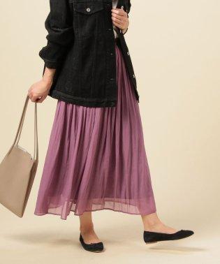 プラチナ割繊シフォンスカート
