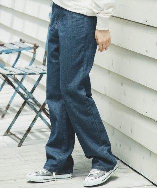 【ママサイズ】ワイド デニム パンツ