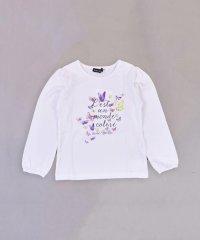 蝶々プリントスムースTシャツ