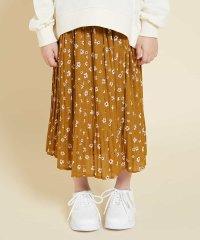 [100-130]フラワープリントプリーツスカート[WEB限定サイズ]