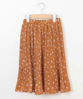 [160]フラワープリントプリーツスカート[WEB限定サイズ]