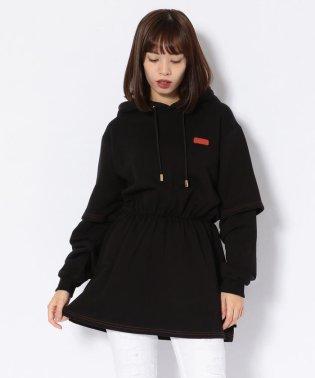 GCDS/ジーシーディーエス/BASIC W DRESS HOODIE