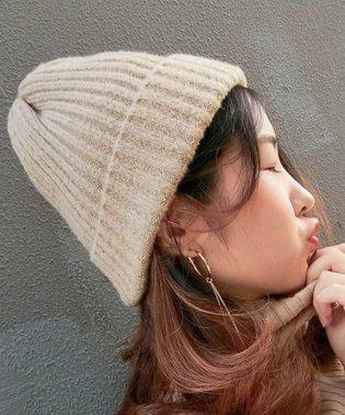 キャップ ニット帽子 カラフル 無地 レディース 毛糸 即納