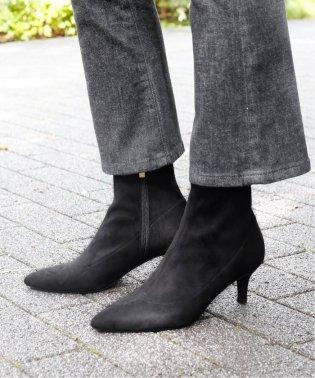 6cmポインテッドフィットショートブーツ