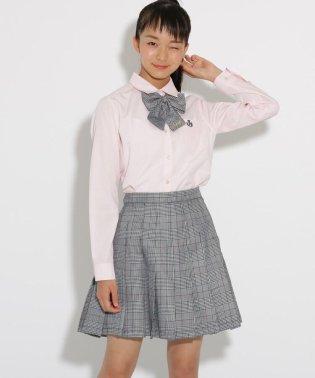 【卒服】リボンタイ付 チェックプリーツスカート