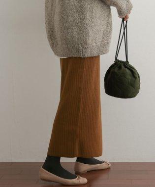 コットンリブニットタイトスカート