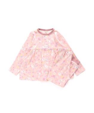 スワンとお花柄パジャマ 10分丈