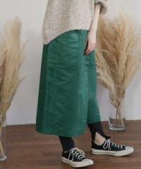 【KBF】カラースエードラップスカート