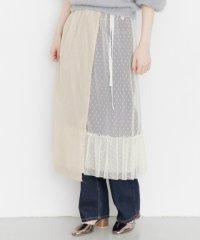 【KBF】レイヤードシアー巻きスカート