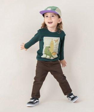 ボックス恐竜プリントTシャツ