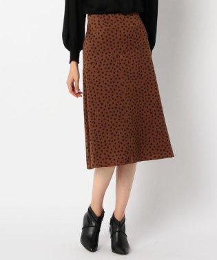 ブラッシュ柄スカート
