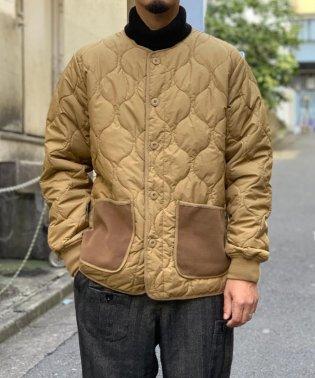 【WEB限定】ノーカラー キルティング ジャケット
