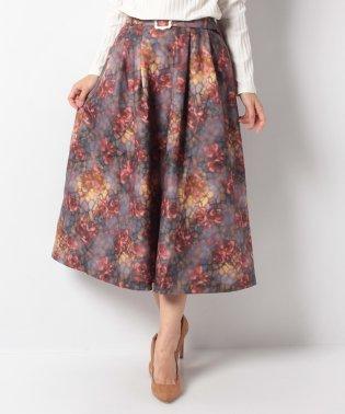 ステンドグラスランプ柄スカート