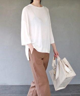 ANAIS(アナイス)ゆるめ夏ニットTシャツ-